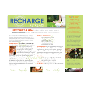 Print Design- Recharge Retreats Flyer