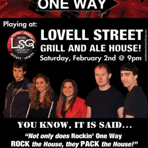 Print Design- Rockin' One Way Event Poster