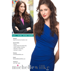 Comp Card Michelle Wilke