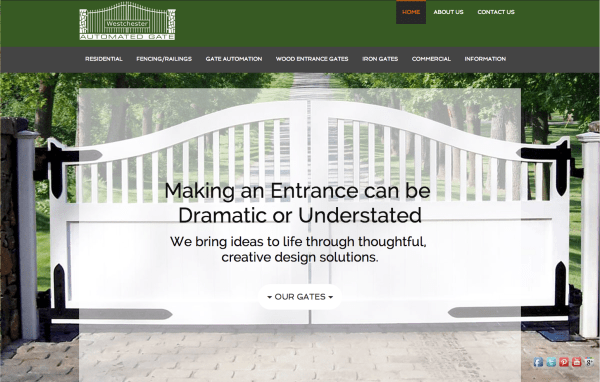 Website Design for Westchester Automated Gates