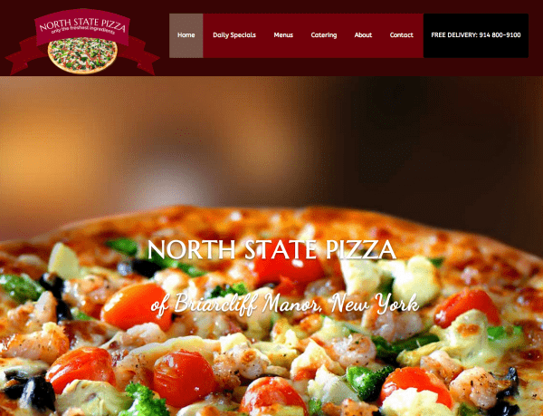 North State Pizza Website and Logo Design