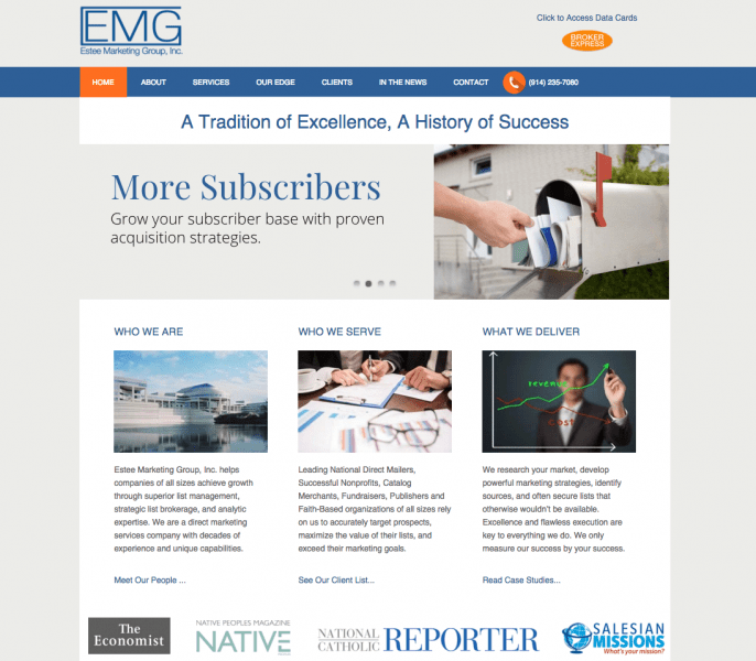 Estee Marketing Group Website Design