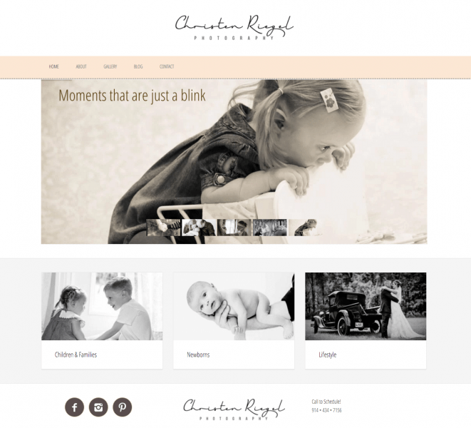 Christen Riegel Photography Website Design