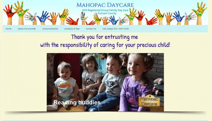Mahopac Daycare website design