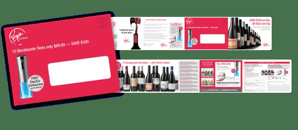 Print Design- Virgin Wines DM