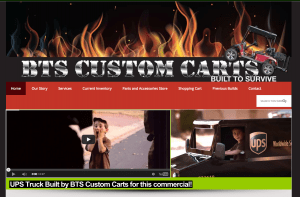 Website design - BTS Custom Carts