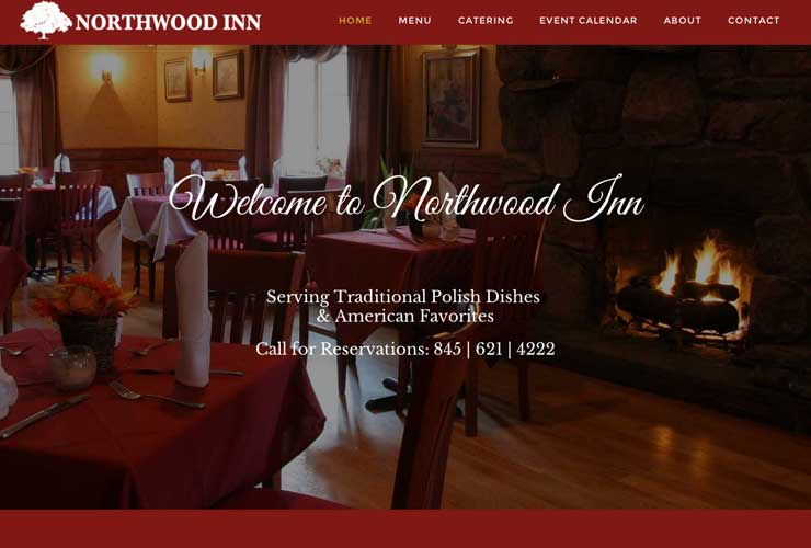 Website Design Portfolio for Northwood Inn - Mahopac