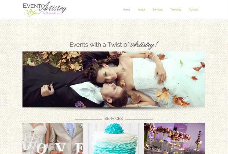 Website Design for Event Artistry NY