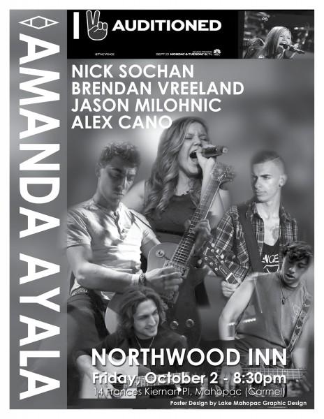 Poster Design, Print Design -Amanda Ayala Music Poster