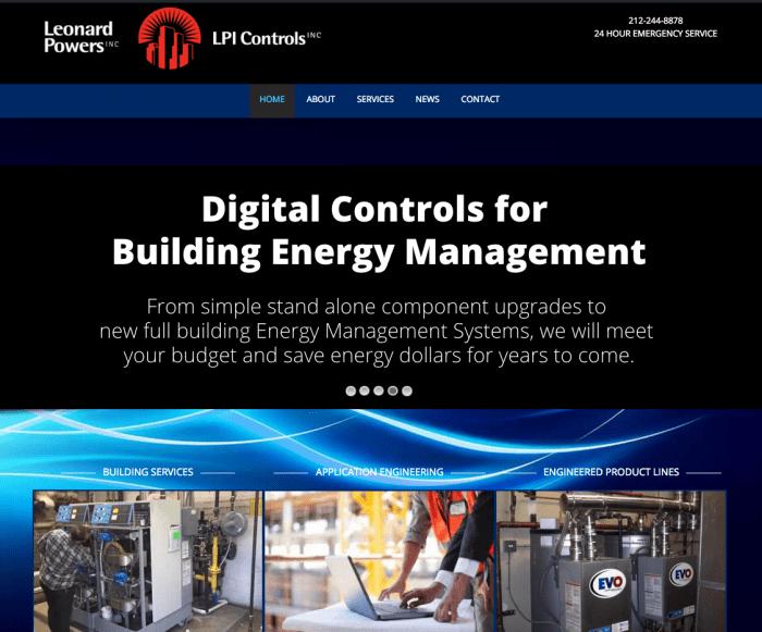 Leonard Powers Inc Website Design