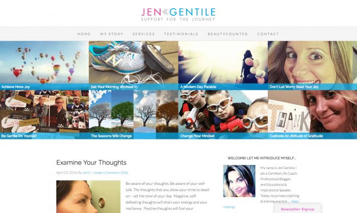 Website Design - Jen Gentile Support for the Journey