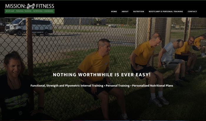 Website Design for Personal Trainer