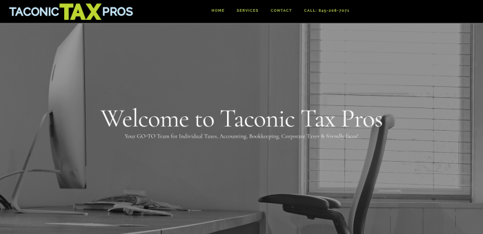 Taconic Tax Pros Website Design