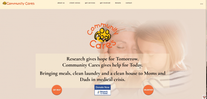 Lake Mahopac Graphic Design Website for Community Cares