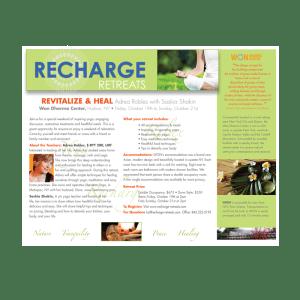 Print Design- Recharge Retreats Flyer
