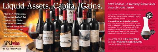 Print Design- WSJ Wine Half Page Ad