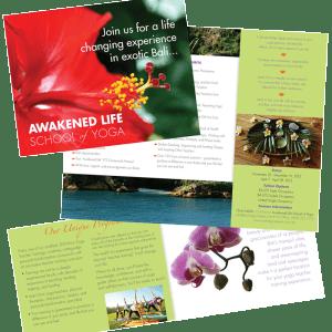 Print Design- Awakened Life School of Yoga Brochure