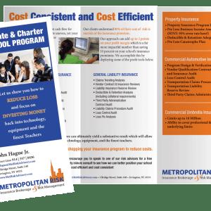 Print Design- Metropolitan Risk Brochure