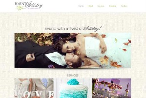 Website Design Portfolio - Event Artistry NY