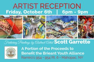 Artist Scott Garrette Reception Print Design