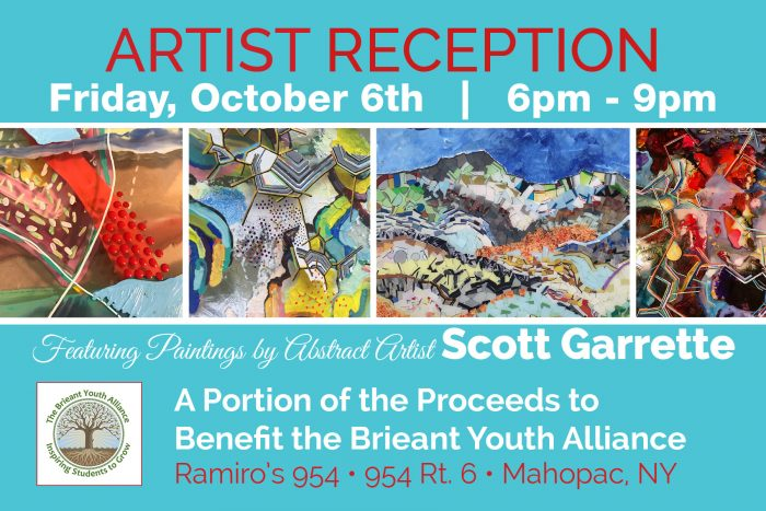 Artist Scott Garrette Reception Print Design