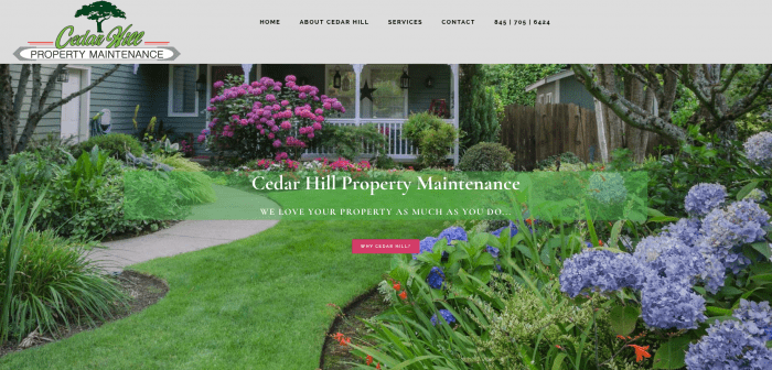Cedar Hill Property Maintenance Website Design