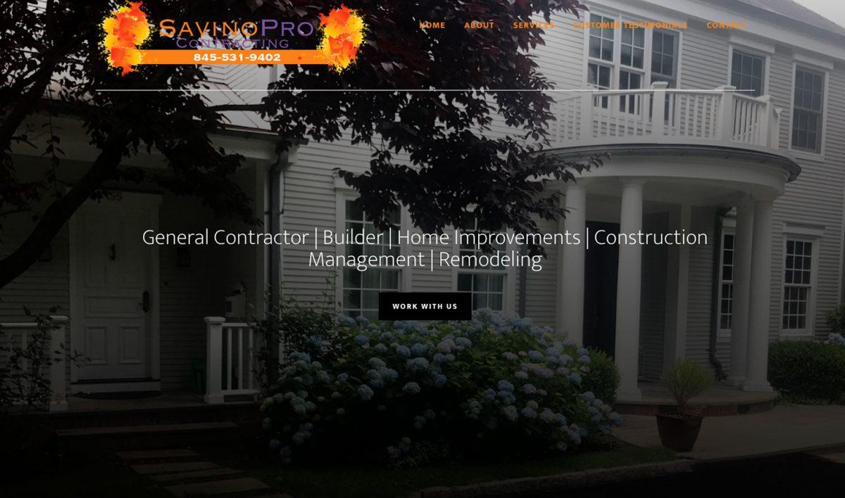 Savino Pro Website Design